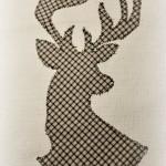 Текстильный постер с изображением оленя